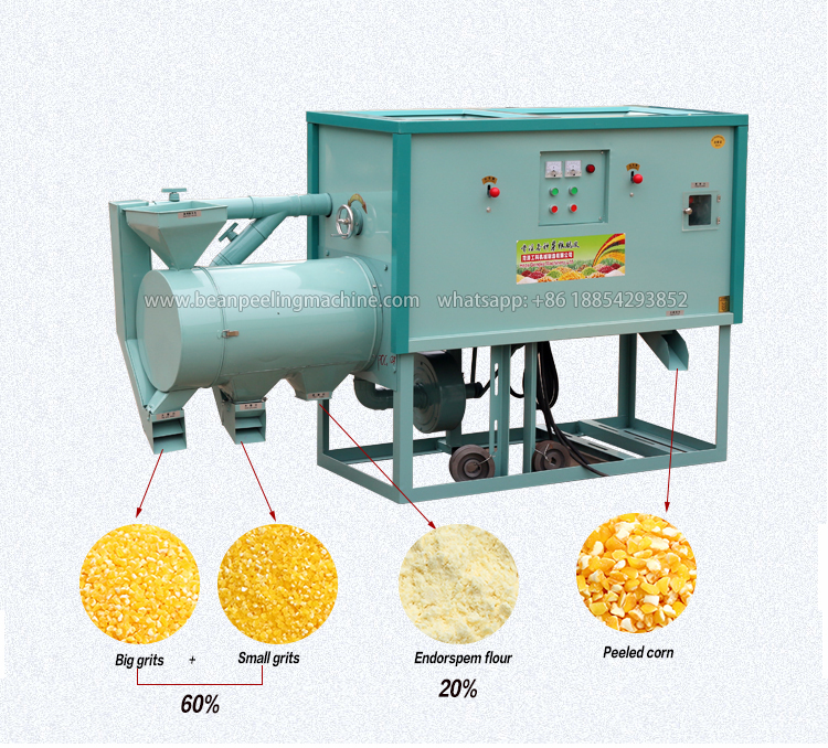 2021 Hot sell corn maize grits milling making machine