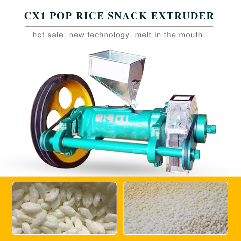 Rice corn pop snack food extruder  factory