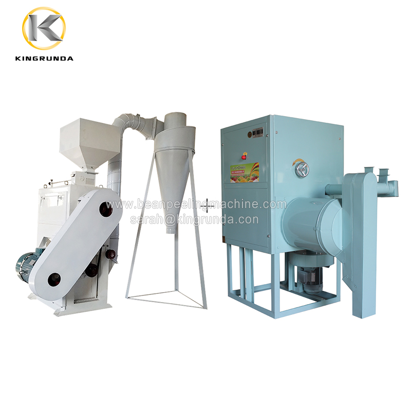 2020 Hot sell chickpea/ lentil/ gram peeling and splitting machine