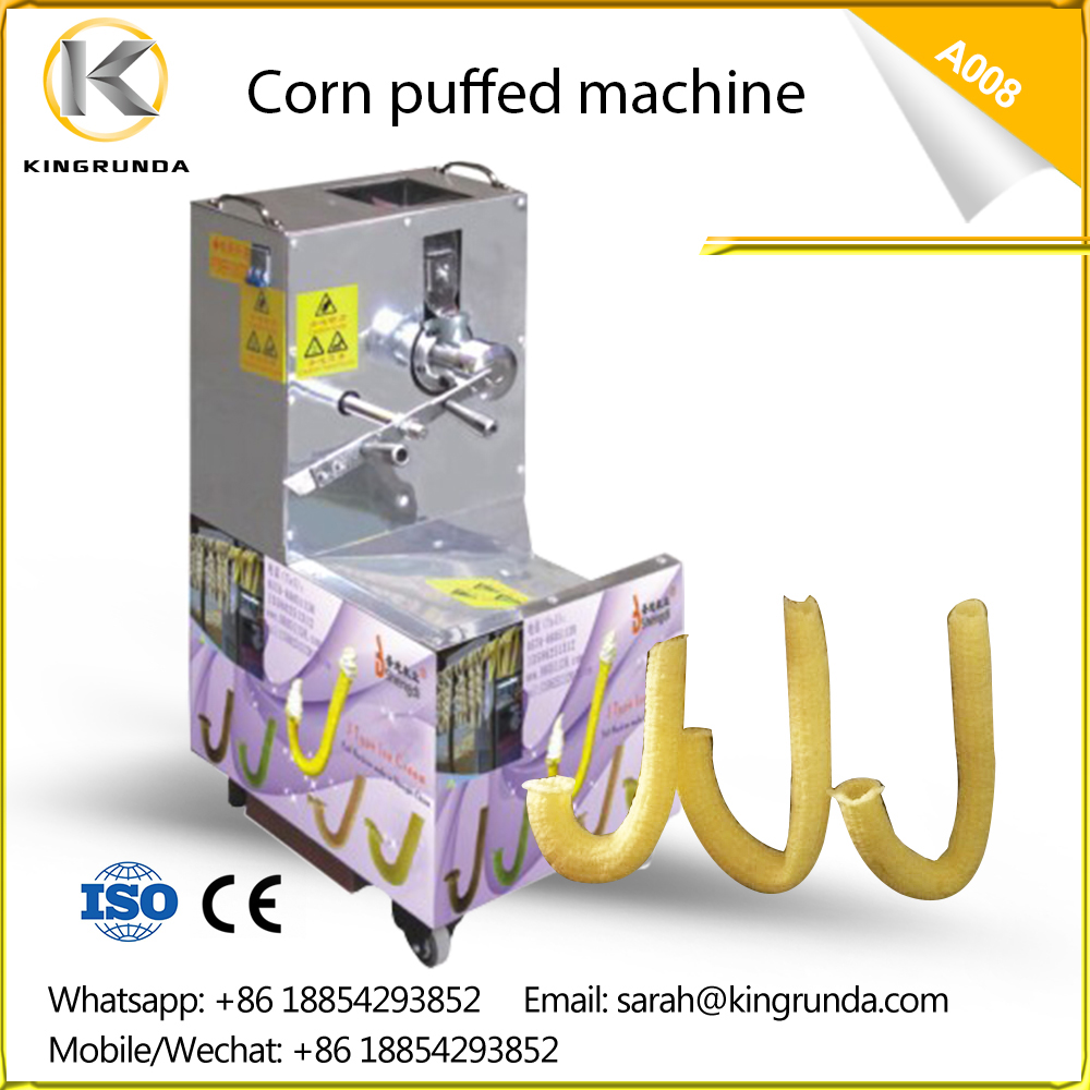 corn puff making machine corn hollow stick extruder machine