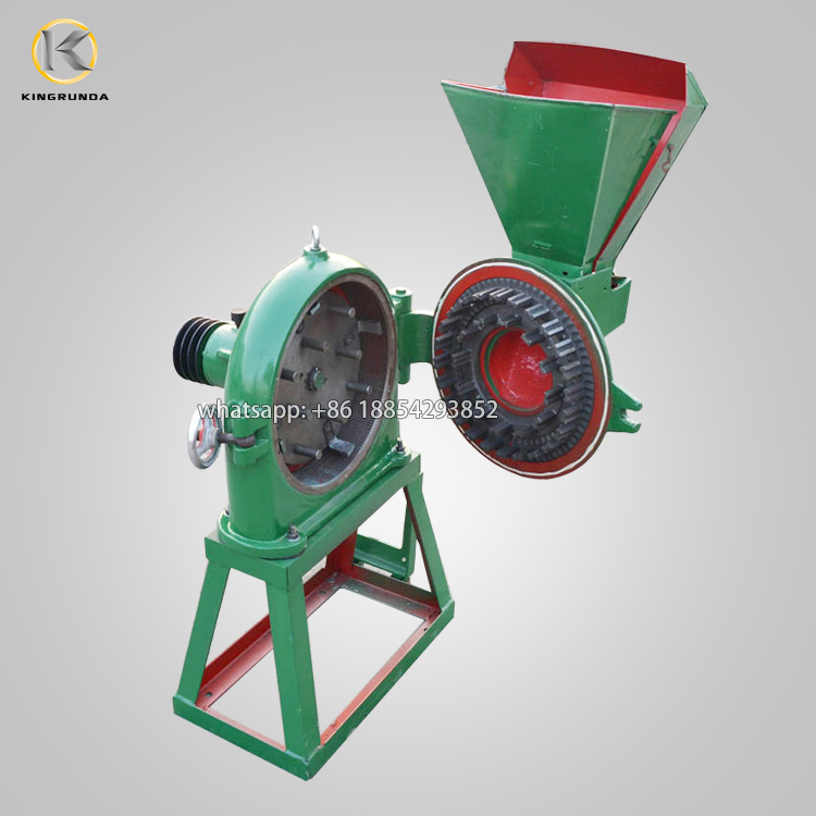 Small Capacity Corn Maize Grain Disk Mill Crushing Grinder Grinding Machine
