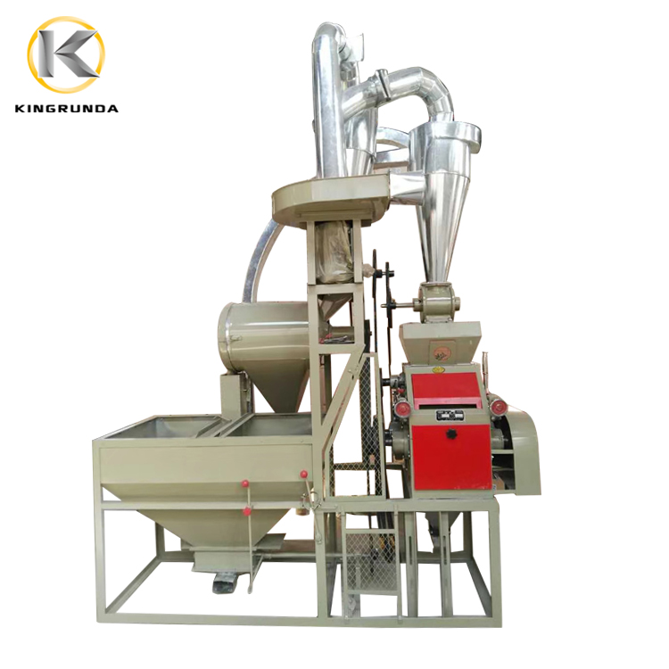 Small Capacity Electric Grain Flour Mill/Wheat Flour Mill Price for Wheat Corn Maize Rice