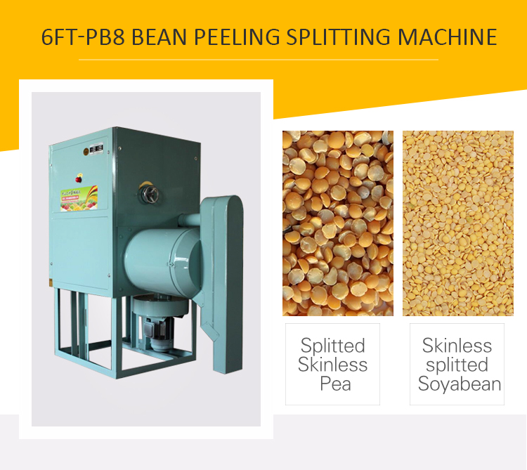 Split bean pea dal dehulled peeling machine